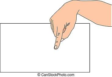 Finger zeigen.