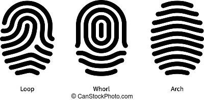 Fingerabdrücke auf weißem Hintergrund.