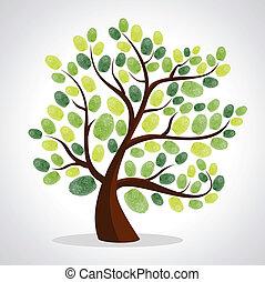 Fingerabdrücke von Baumhintergrund