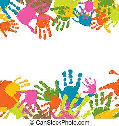 Fingerabdrücke von den Händen des Kindes, Vektor Illustration