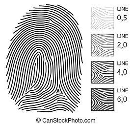 Fingerabdruckvektorleitungen