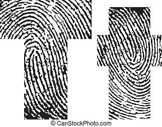 Fingerdruck- Alphabet