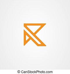 firma, brief, logo, abzeichnen, r
