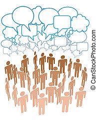 Firmengruppe spricht über soziale Netzwerke