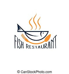 Fisch in Form von Schale, Fischrestaurant.