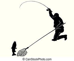Fischer und Forellen