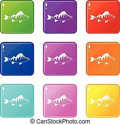Fish Icons 9 Set.
