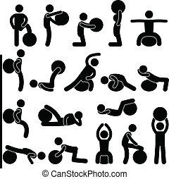 Fitness-Balltraining