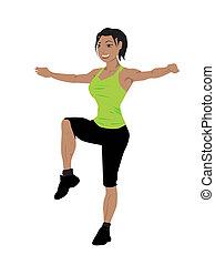 Fitness-Frauen trainieren
