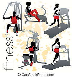 Fitness-Silhouettes-Set
