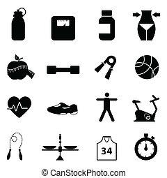 Fitness- und Diät-Icon-Set