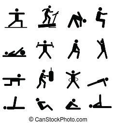 Fitness und Trainings-Ikonen