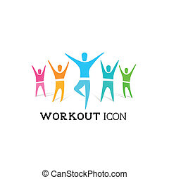 Fitnessgruppenvektor