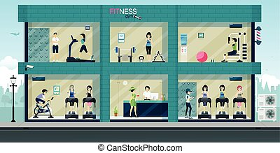 Fitnessstudio.