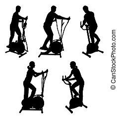 Fitnessstudio-Leute