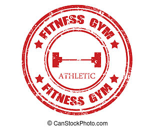 Fitnessstudio-Stamp
