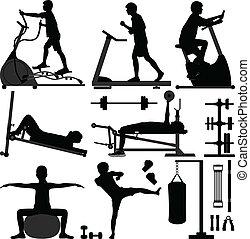 Fitnessstudio-Training