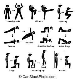 Fitnesstrain für Körpertraining