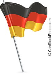 Flag of Germany 3d Vektor Icon.