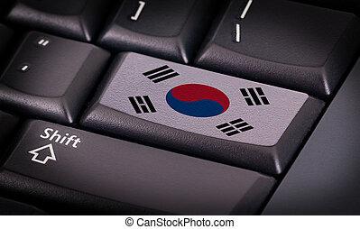 Flagge auf der Tastatur.