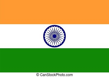 Flagge Indiens.