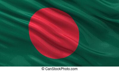 Flagge von Bangladesch.