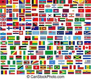 Flaggen aller Weltländer