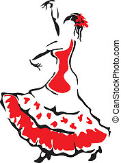 Flamenco-Tänzer.