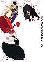 Flamenco und Stierkämpfe