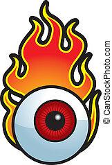Flaming Augapfel