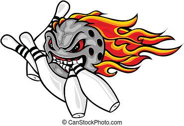 Flaming Bowlingball
