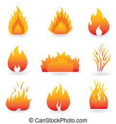 Flammen und Feuersymbole