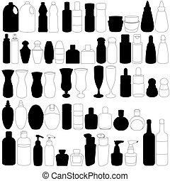flasche, parfüm, glas, behälter