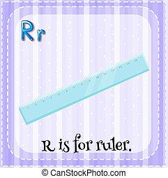 Flashcard Buchstabe R ist für Linear.