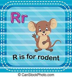 Flashcard Buchstabe R ist für Nager.