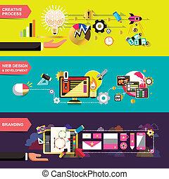 Flat Design Konzepte für kreative Prozesse