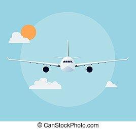 Flat Flugzeugabbildung.
