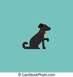 Flat Icon Dog Element. Vector Illustration des flachen Icon-Hund isoliert auf reinem Hintergrund. Kann als Hunde-, Hunde- und Pferdesymbole verwendet werden.