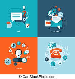 Flat Icons für Web-Kommunikation