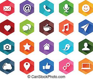 Flat Social Media Icons.