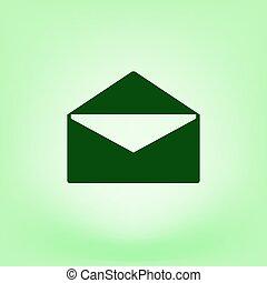 Flat Style Icon von Umschlag. E-Mail