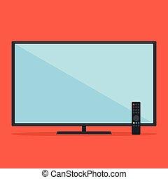Flat TV Vektorgrafik.