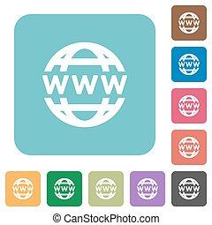Flat www Globus Icons.