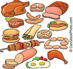 Fleischprodukte Ikonenset