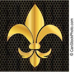 Fleur de lis emblem logo.