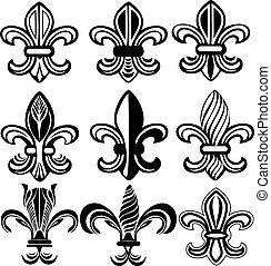 Fleur de lis neues Orleans Symbol.