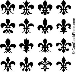 Fleur de lis orleans symbol.