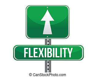 Flexibilisierungs-Straßenschild-Design.