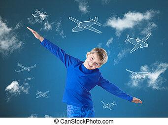 Flieg wie ein Flugzeug.