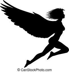 Fliegende Frau